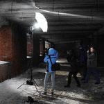 Съемка на пленере с использованием генераторного света.