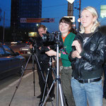 Аня Белая - известный пермский фотограф на практических занятиях.