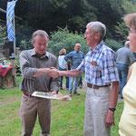 Danksagung der Reisegruppe bei Winfried Sommer für die tolle Organisation der HMS-Mitgliederfahrt im Juli 2013.