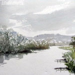Fluss bei Ayutthya