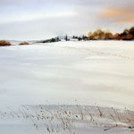 Winter in Sachsen / Aquarell