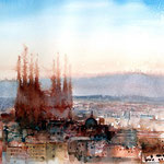 Barcelona / Aquarell