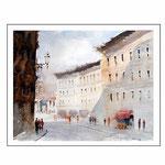 Ascoli Pincena / Aquarell