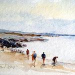 Whitesand Bay / Aquarell