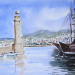 Der venezianische Hafen von Rethymnon - Kreta