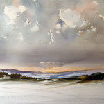 Winter im Erzgebirge / Aquarell