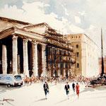 Pantheon Rom / Moorlauge Aquarell