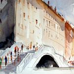 Brücke Venedig / Aquarell
