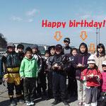 松山・大三島・新居浜の各クラブ一人ずつのお誕生日が3人も!みんなでケーキを食べました♪