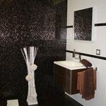 Wandfliese 25x61 cm Confort weiß 36,65 €/m², Glasmosaik 2x2 cm   , Feinsteinzeug 60x60 cm Copper Lapp.Rett. 59,85 €/m²