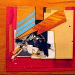 FERNANDO GARCIA PONCE, Sin título 2, collage/madera, 60x80cm, 1985.