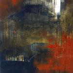 Distante. Técnica mixta/tela, 150x100 cm, 2008
