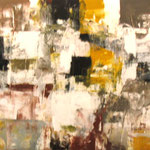 ALAMILLA. Principio poético. técnica mixta/tela. 122 x 191 cm. 2009.