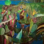 ROGER VON GUNTEN.Costacon sus habitantes.oleo/tela,150x120cm.2004
