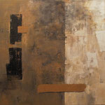 Divido espacio. Técnica mixta/tela, 150x180 cm, 2011