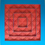 ALBA ROJO, Ventana cerrada 5, cartulina y tela, 63x63x6cm, 2013