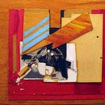 FERNANDO GARCIA PONCE, Sin título 2, collage/madera, 60x80 cm, 1985.