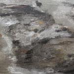IRMA PALACIOS, Corrientes de mar y tierra, óleo/tela, 150x190cm, 2013.