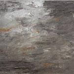 IRMA PALACIOS, Tormenta II, óleo/tela, 60x100cm, 2013.