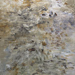 IRMA PALACIOS, Elevación, óleo/tela, 250x150cm, 2013.