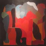 LUIS LOPEZ LOZA, Emoción evolutiva, oleo/tela, 135x135cm, 2008.