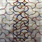 Mandala vertical. Acuarela y tintas sobre papel, 50x35 cm, 2015.