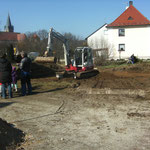 Es geht los - Vorbereitung für die Bodenplatte