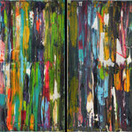 Party I , II, III IV, V en VI, canvas, mixed media,  40 x 60 cm