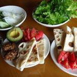 ピタパンの昼食