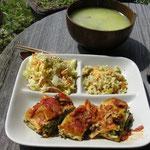 ある日の昼食(ラザニアセット)