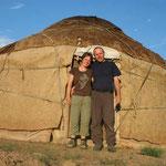 Silvia und Daniel in Usbekistan
