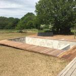 Crach Habillage piscine en ipé