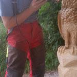 Schnitzkurs bei Allgäu-Carving by Martina Gast - Schnitzen mit der Motorsäge