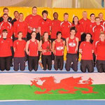 Welsh Athletics squad and support staff