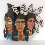 3 caras jefes indios