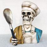 cabeza esqueleto cocinero