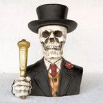 cabeza esqueleto con traje