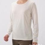 竹の長袖Tシャツ 4500円+税 M/L オフホワイト/ブラック/ラベンダー