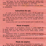 Mehrsprachige Gebrauchsanweisung für einen Druck-Füllhalter (Tipper)
