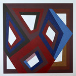 CLUSTER L - 2013 - 110 x 110 cm