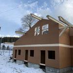 Aufrichten Aufzuchtgebäude Compaterra Guggisberg