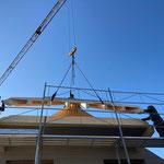 Aufrichten Erweiterung Wohnhaus Amsoldingen
