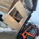 Aufrichten Skiraum Gletschergarten Saas-Fee