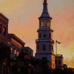 St. Michaels on Broad [SOLD] --- Medium: Oil --- Size: 11 X 14
