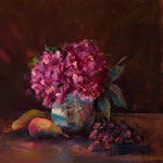 Pink Hydranges and Chinese Vase --- Medium: Oil --- Size: