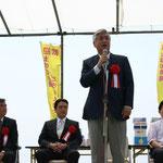 香南市の市長の挨拶に続いて、尾崎知事、中谷元衆議院議員などが来賓の挨拶