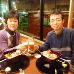 浅草の麦とろ本店で長女夫婦と食事
