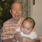 7月23日満90歳の曾祖父・友岡稔の卒寿のお祝い 「吉祥寺車屋」