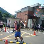 松山から来られて初出場した渡部徹・和子夫妻が35分27秒でゴール