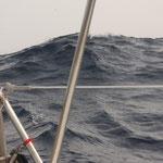 der Atlantik beeindruckt uns mit seinen immer grösser werdenen Wellen